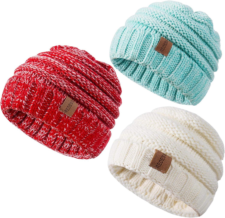 Boy Girl Infant Cute Baby Kids Toddler Knit Sweater Cap Winter Warm Hat