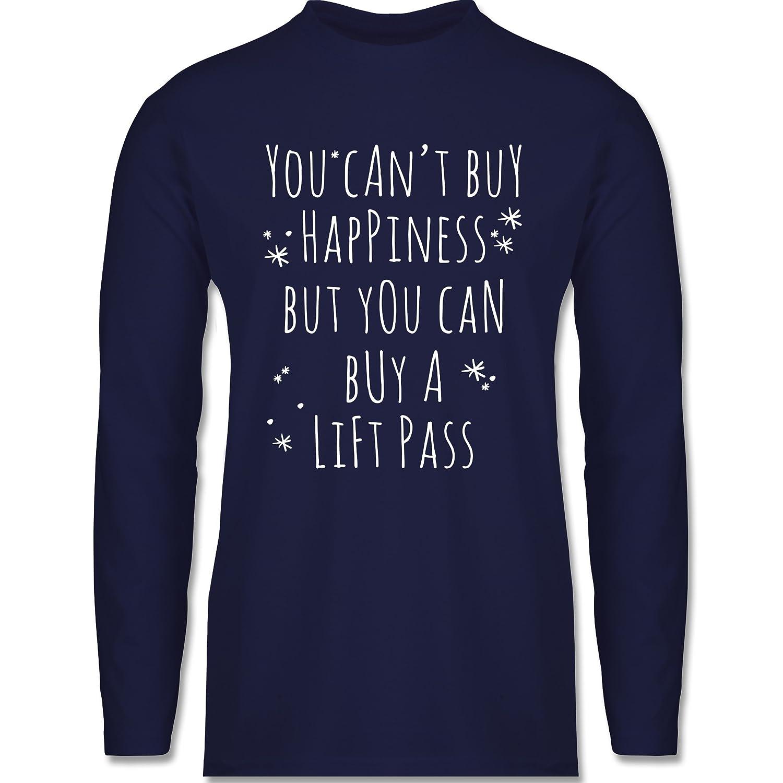 Wintersport - Buy Happiness Lift Pass Ski Snowboard - Longsleeve / langärmeliges T-Shirt für Herren