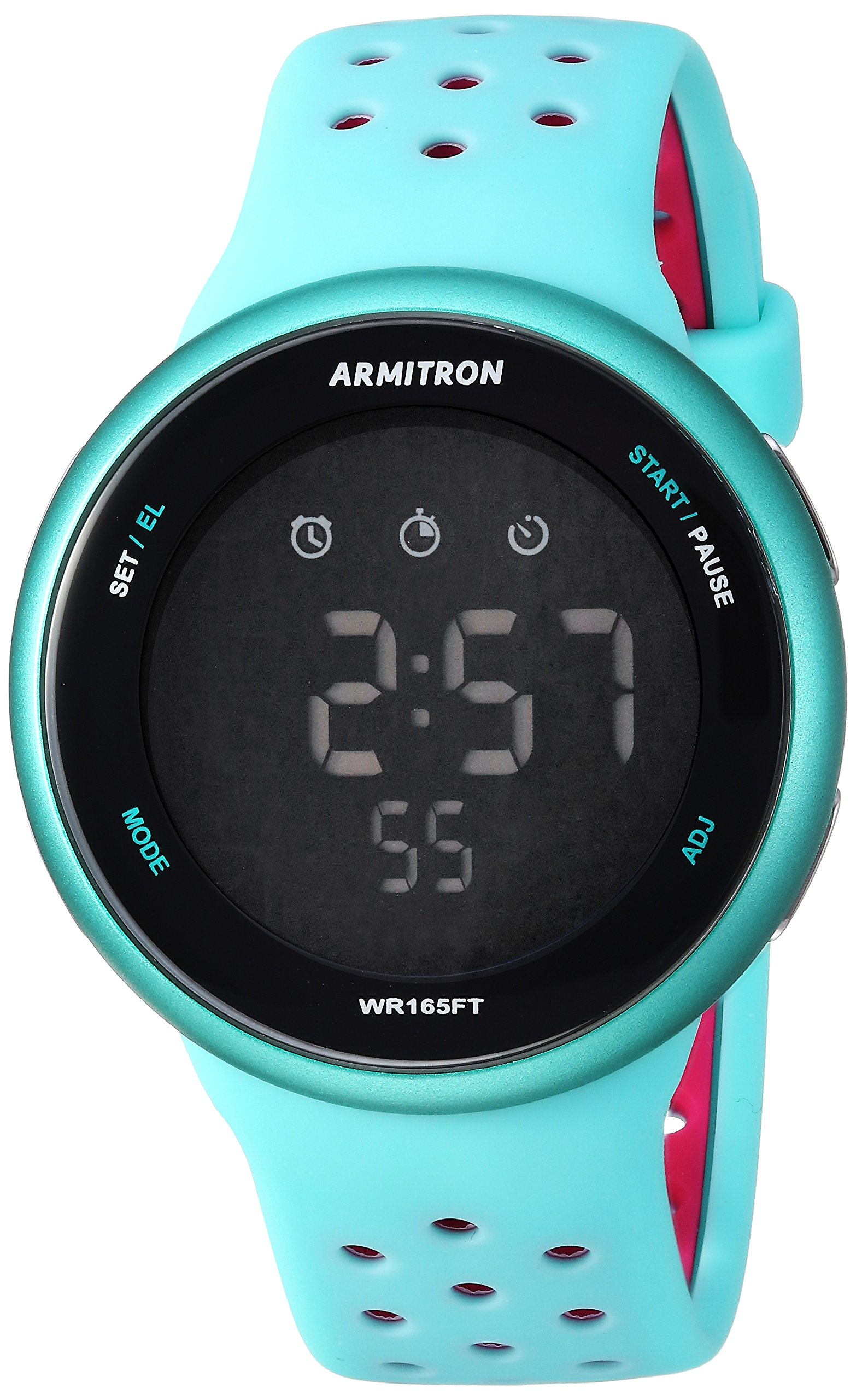 Armitron Sport Quartz Resin and Silicone Fitness Watch, Color:Blue (Model: 40/8423LBL)
