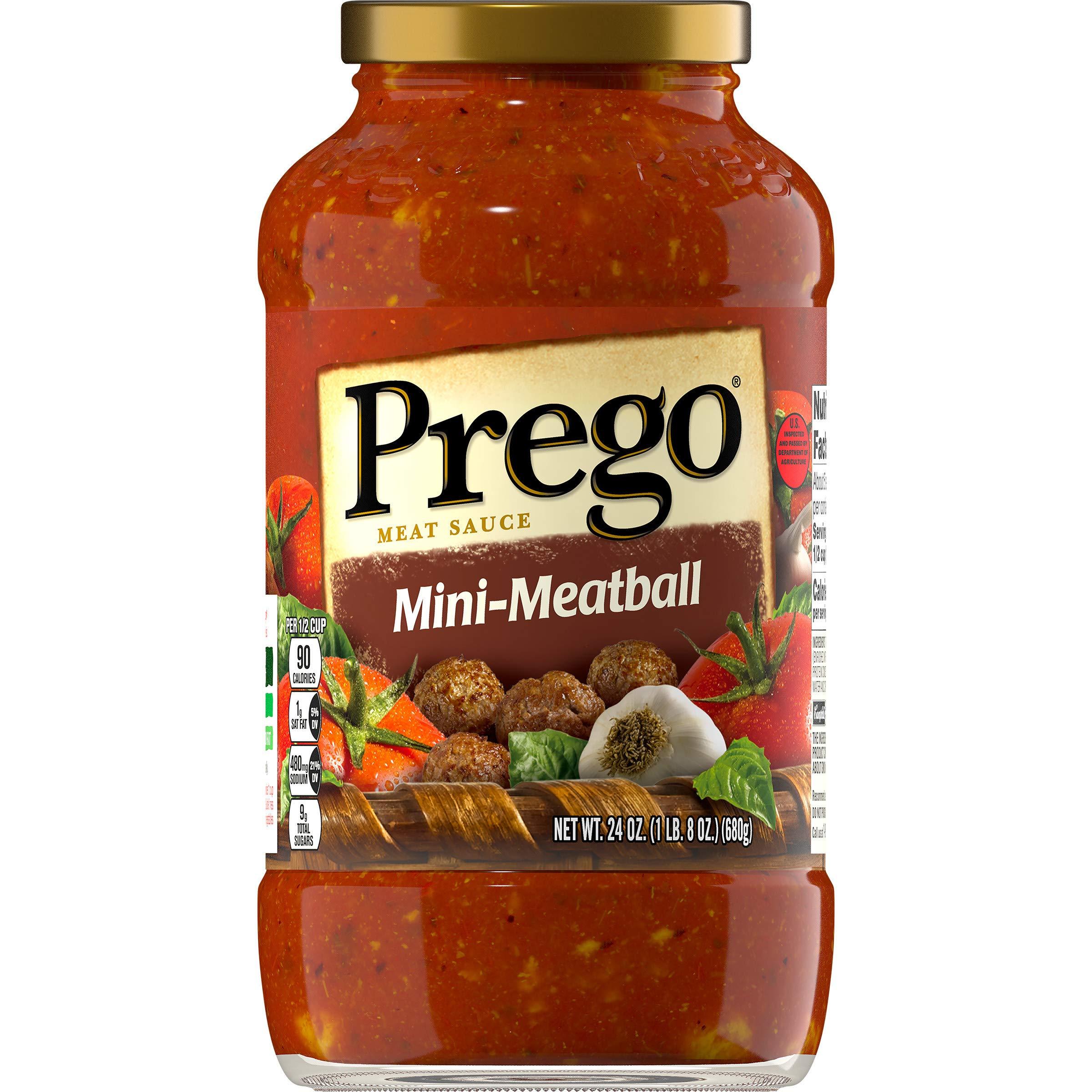 Prego Mini-Meatball Meat Sauce, 24 oz. by Prego
