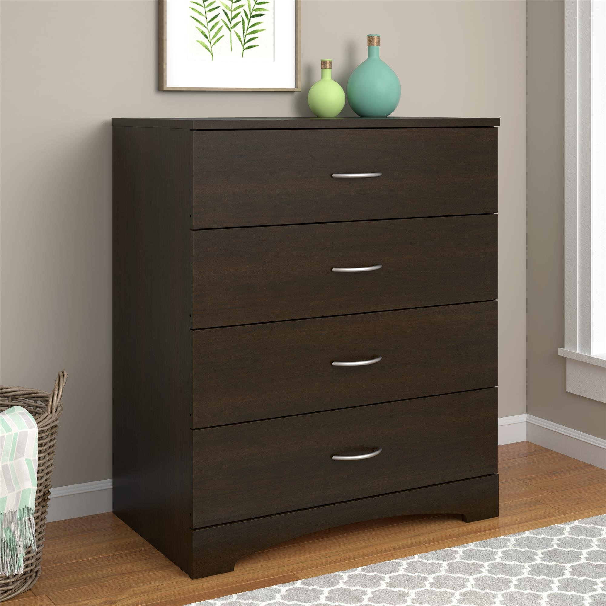 Ameriwood Home Crescent Point 4 Drawer Dresser, Espresso by Ameriwood Home
