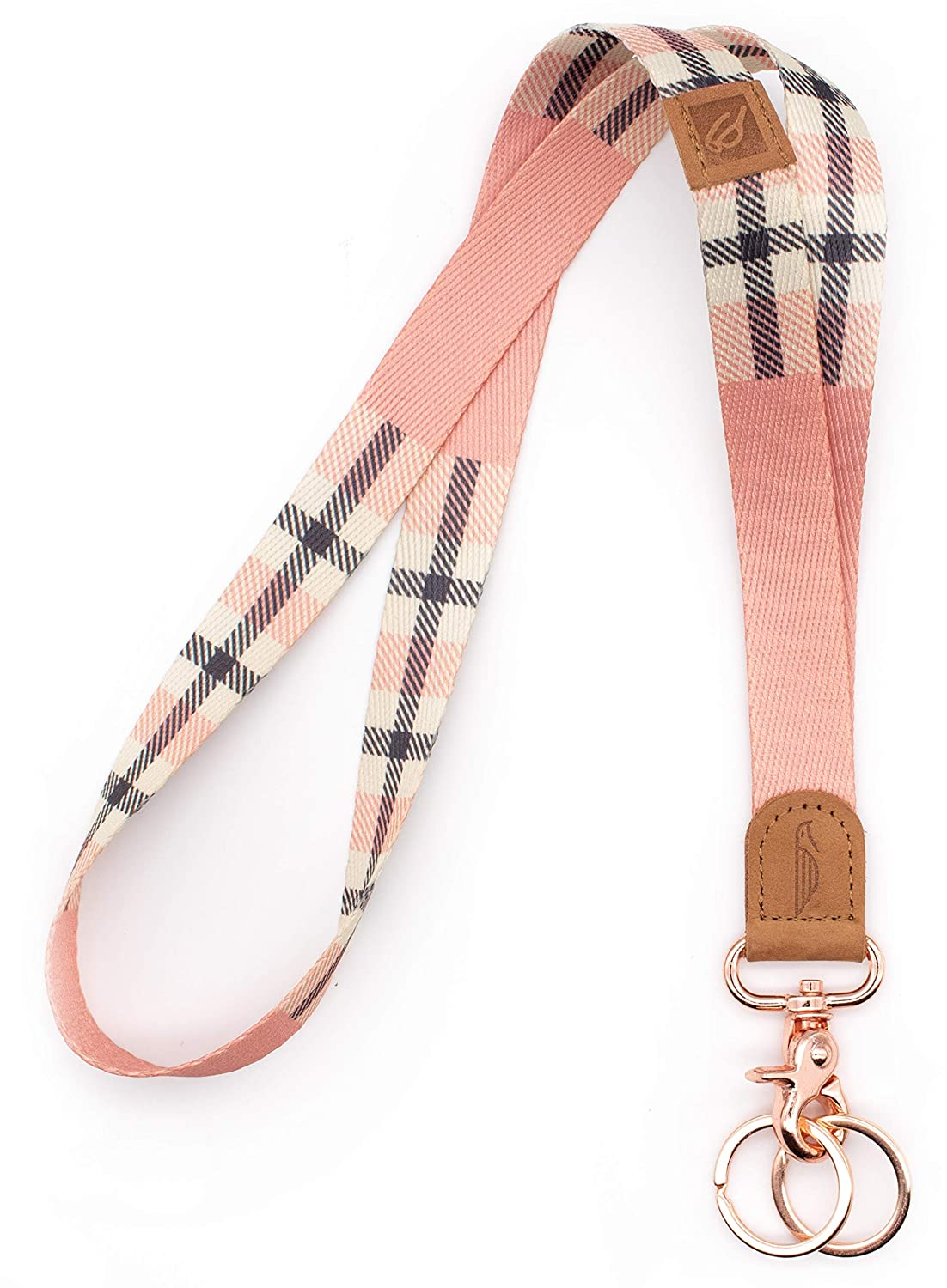 POCKT Neck Lanyard Keychain Holder for Men and Women - Cool Lanyards for  Keys, Wallet and ID Badge with 2 Key Ring | Pink Plaid: Amazon.in: Office  Products
