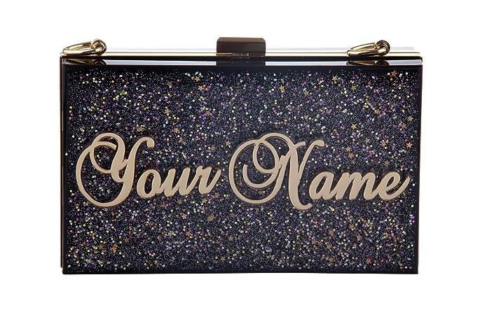 Godeagle personalizado personalizada Nombre embrague bolsos de noche de boda / fiesta noche bolsos / bolsos de asa superior: Amazon.es: Zapatos y ...