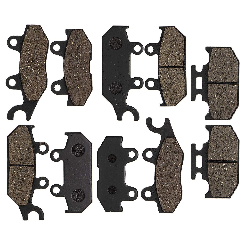 NICHE Brake Pad Kit For Yamaha Viking 700 VI Wolverine X4 R-Spec 1XD-25805-00-00 1XD-25805-10-00 Complete Organic