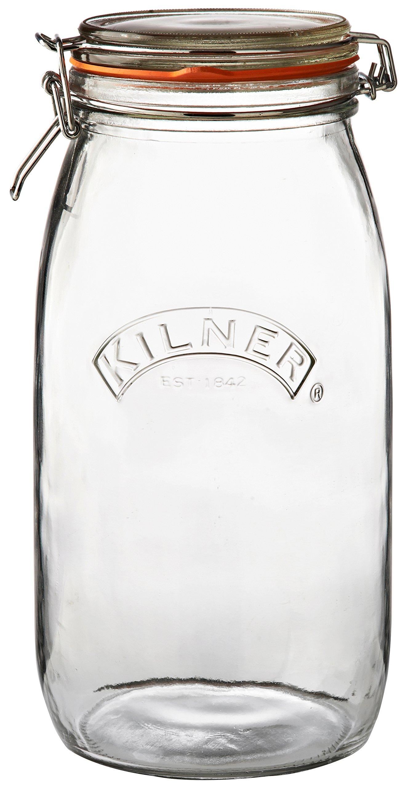 Kilner Round Clip Top Jar, 102-Fl Oz