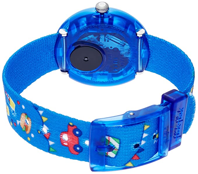 Amazon.com: Flik Flak Cool Party Blue Fabric Strap Kids Watch FBNP086: Watches