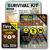 Do-It-Yourself: EDC Survival Kit Bundles: Kit + Tiny Survival Guide + Storage Tin/Emergency, Disaster, Tactical - Great…
