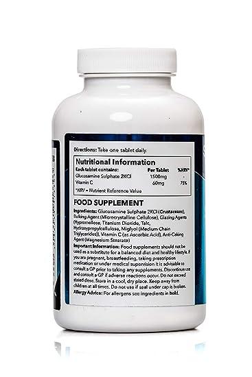 Glucosamina 1500mg con Vitamina C - 360 comprimidos - Hasta 1 año de suministro - Favorece la salud de tus articulaciones - SimplySupplements: Amazon.es: ...