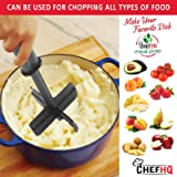 CHEFHQ Meat Chopper with Silicone Clip-On Strainer
