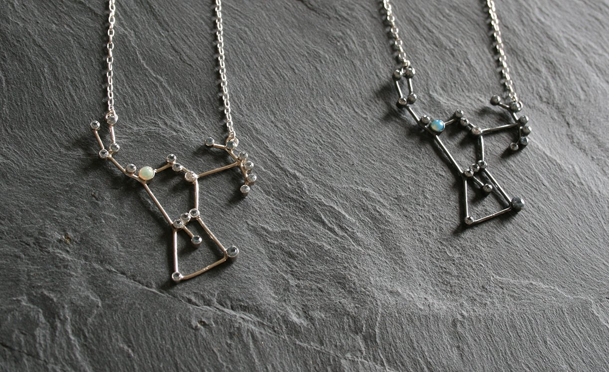 silver notonthehighstreet com necklace rose product original astridandrose by orion astrid sterling constellation and pendant
