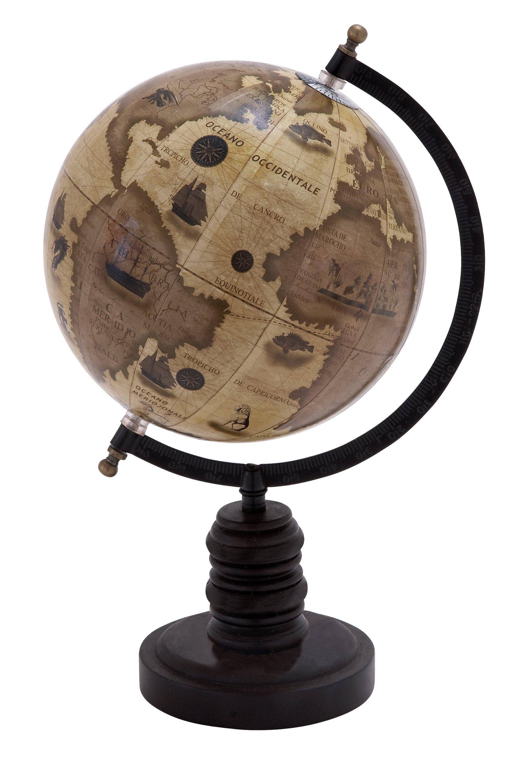 Deco 79 Desk Globe On Black Stand