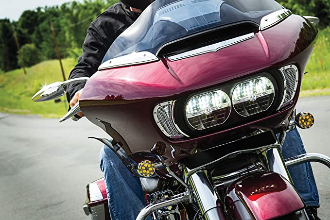 Kuryakyn Motorcycle Mesh Fairing Intake Vent Accent Chrome Finish KU-6511