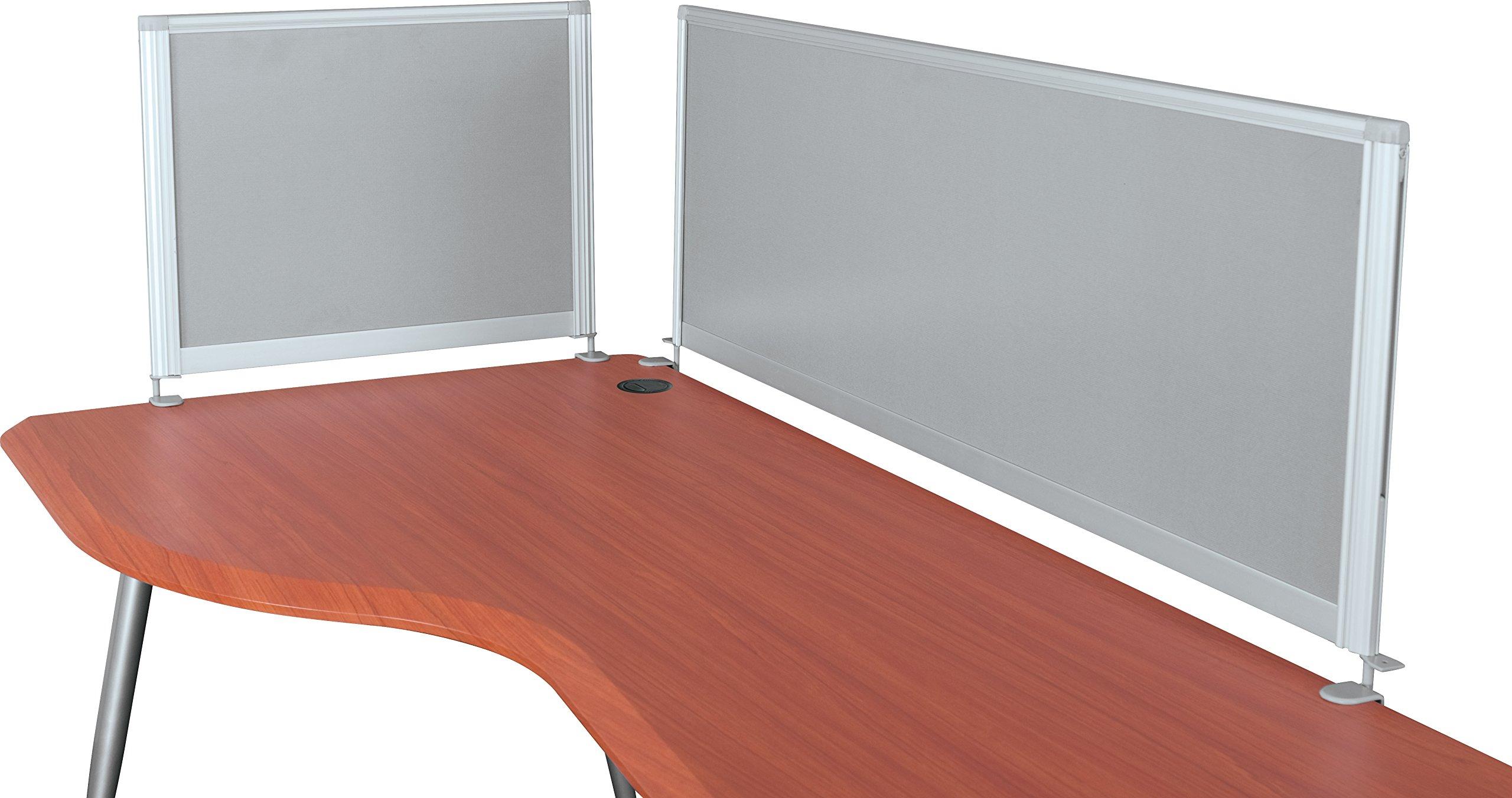 Balt iFlex Desktop Privacy Panels, Half Length, 17''H x 21 1/2''W x 1''D (90063)