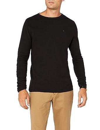 df2dd8c9d Tommy Jeans Men's Crew Neck Long Sleeve Top, Black (Tommy Black 078),