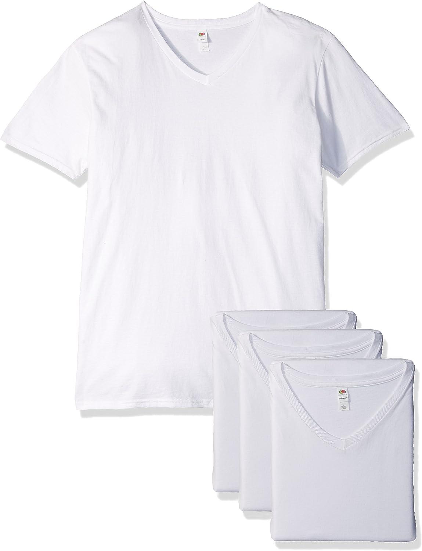Fruit of the Loom Mens Lightweight Cotton V-Neck T-Shirt Multipack