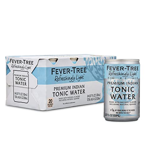 Fever-Tree Tonic Water Cans No Artificial Sweeteners, Flavorings & Preservatives Refreshingly Light, 121.68 Fl Oz