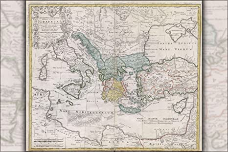 Amazon.com : 16x24 Poster; 1741 Map Of Ancient Greece And The ...
