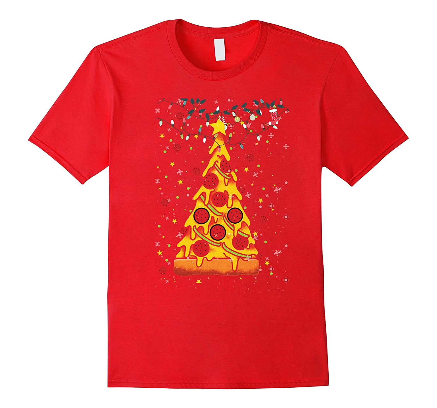 Funny Pizza Ugly Christmas Sweater Xmas Pizza Tree GIft-ANZ