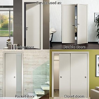 Planum 0010 Interior Door Slab 30u0026quot; X 80u0026quot; Closet Sliding Flush  Wood Patina Antique