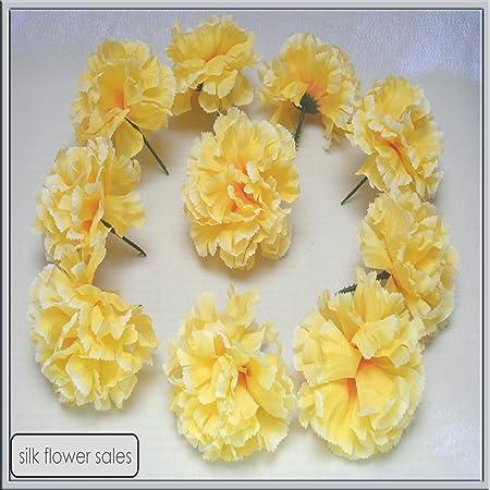 144 yellow carnation picks artificial silk flowers wedding 144 yellow carnation picks artificial silk flowers wedding buttonholes funeral tributes free pp mightylinksfo