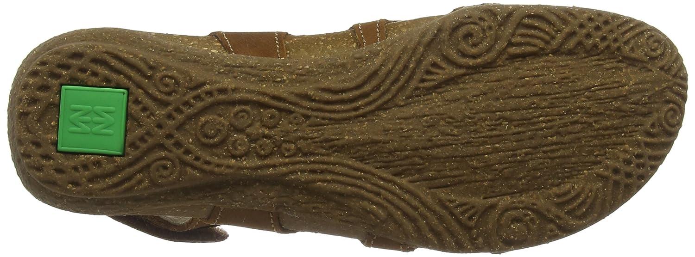 El Naturalista Damen Damen Naturalista N413 Geschlossene Sandalen, grün Braun (Wood) 9c3516