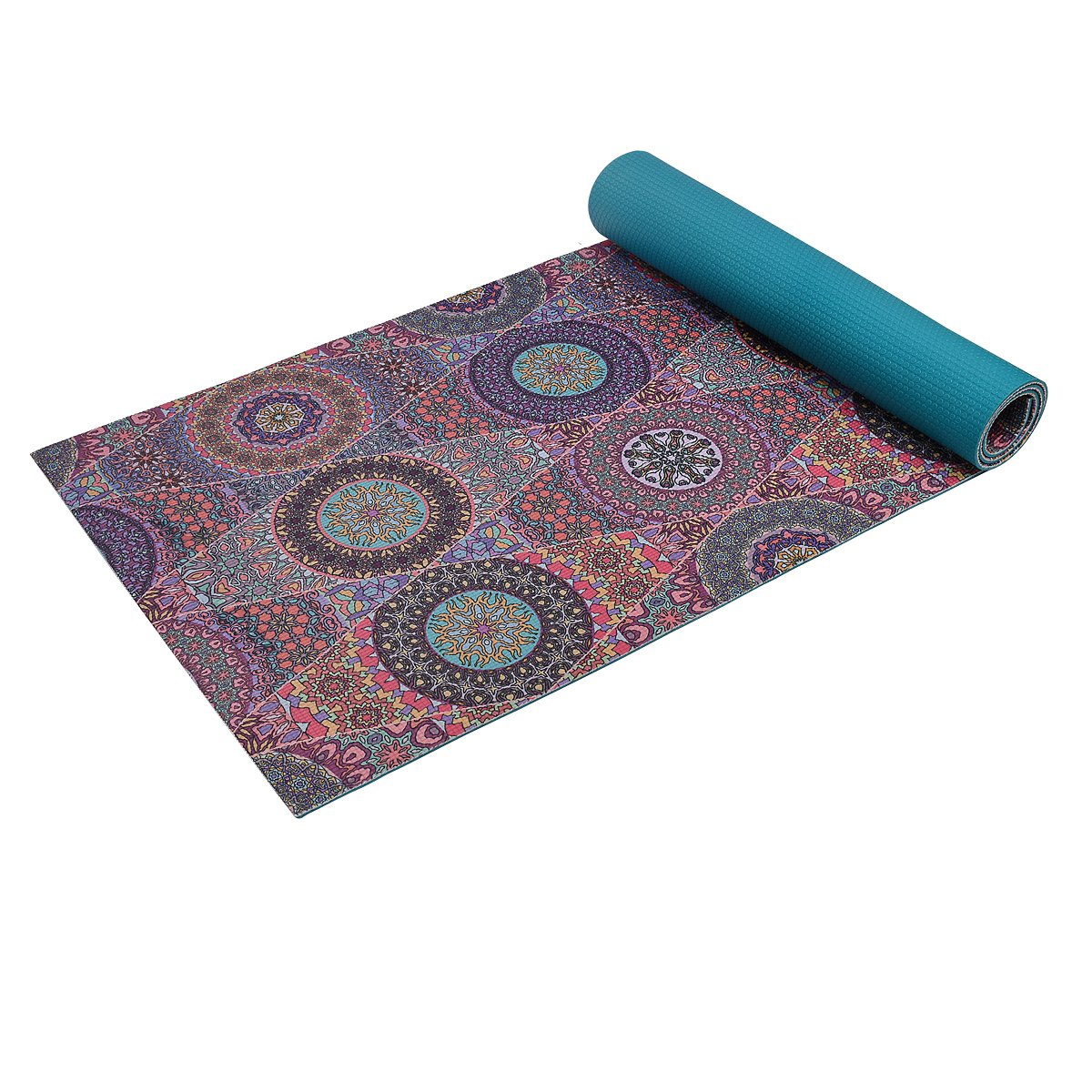 Trideer High-Density Yoga Mat, Premium Printed 1/4'' Extra Thick Non-Slip Eco-friendly Anti-Tear 6mm Floor Pilates Exercise Mat for Yoga, Workout, Fitness with Carrying Strap (Mystic Baroque)