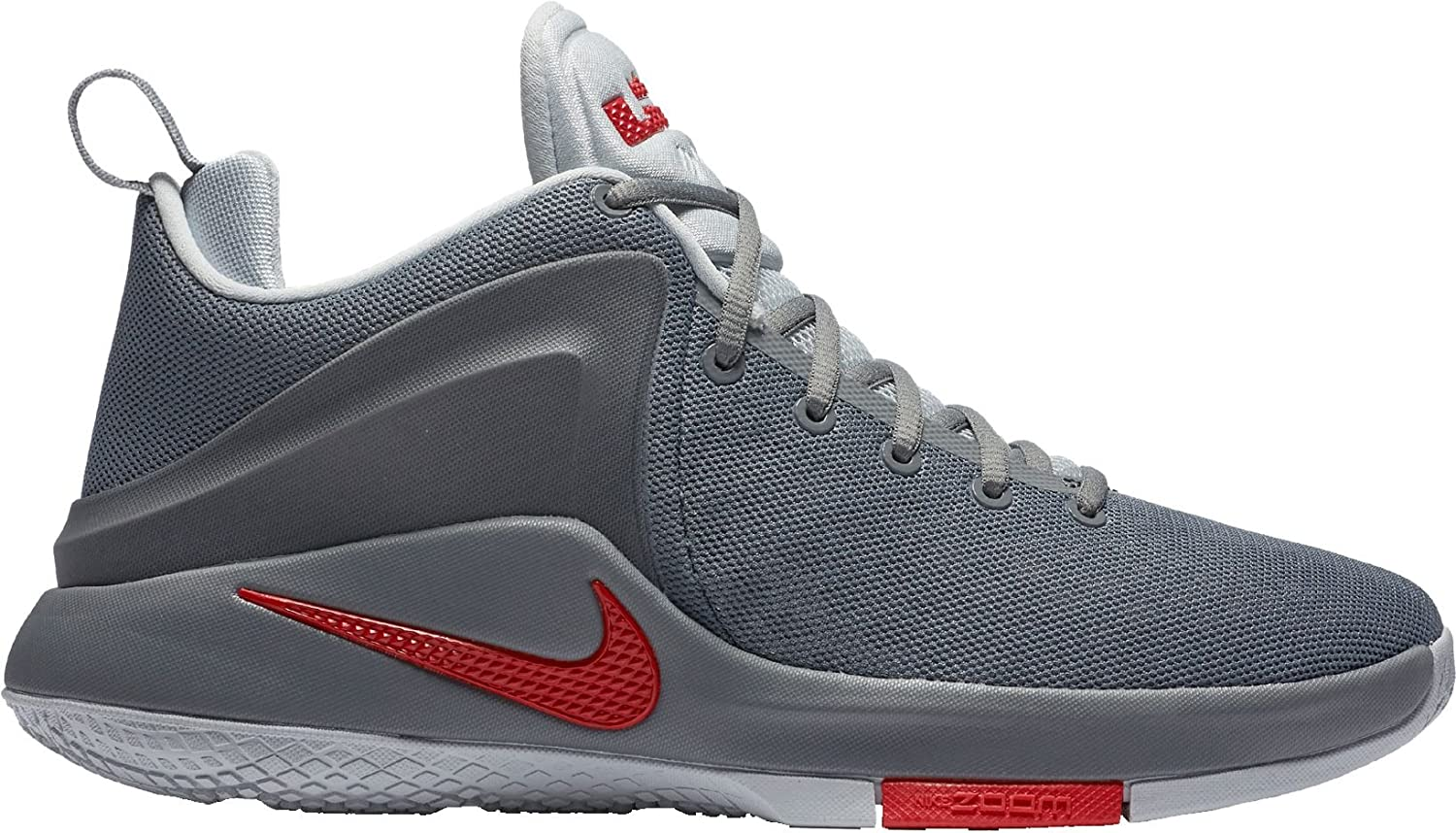 official site exquisite style official store Amazon.com | Nike Mens Lebron Zoom Witness Sneakers (Grey/Red, 14 ...
