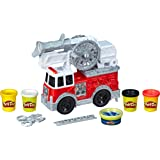 Play-Doh Wheels - Firetruck Playset inc Water Look Dough + 4 Tubs of Dough - Kids Creative Toys - Ages 3+