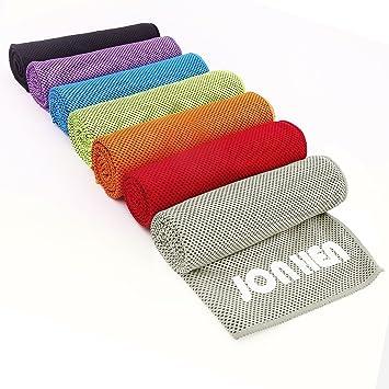 Jonhen - Toalla de refrigeración, 100 x 30 cm, secado rápido, toalla deportiva para alivio instantáneo, ...
