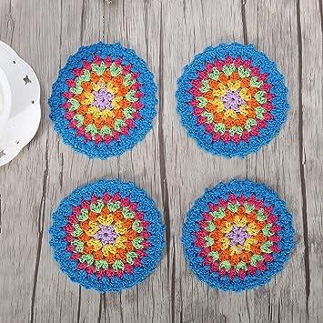 Zorjar Crochet Fait Main Coton Coloree Sets De Table Napperon 10 Cm