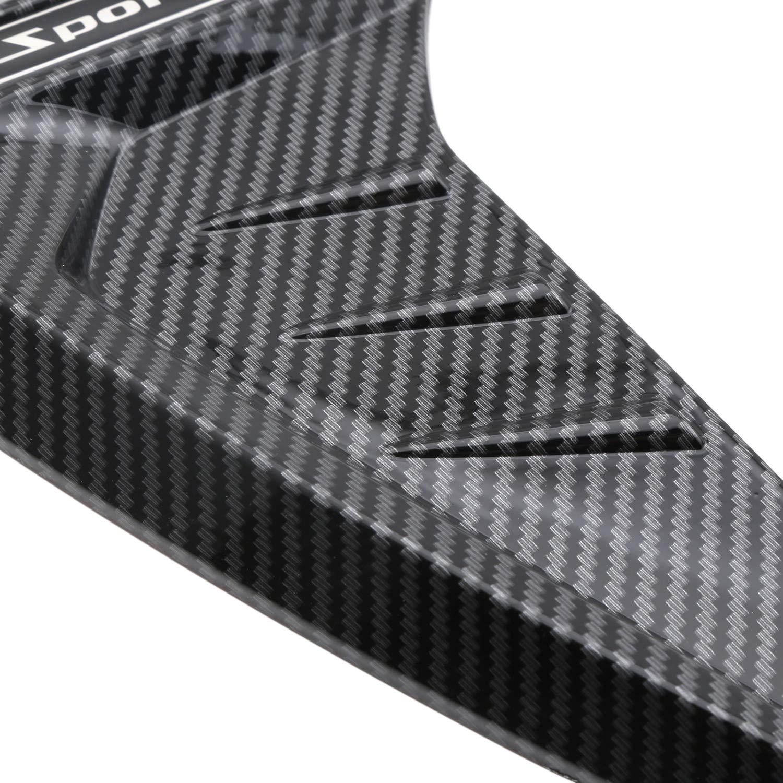 KKmoon Auto Kotfl/ügel Schwarz Lufteinlass Deko Styling Set Ersatz f/ür BMW X5 F15 X5M F85 2014-20181 Paar