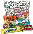 Confezione Piccola di Snack Americani | Caramelle e Cioccolato per Idea Regalo di Natale e Compleanno | Vasta Gamma tra cui Jolly Rancher Skittles Jelly Belly | 12 Pezzi in Confezione Vintage di Cartone