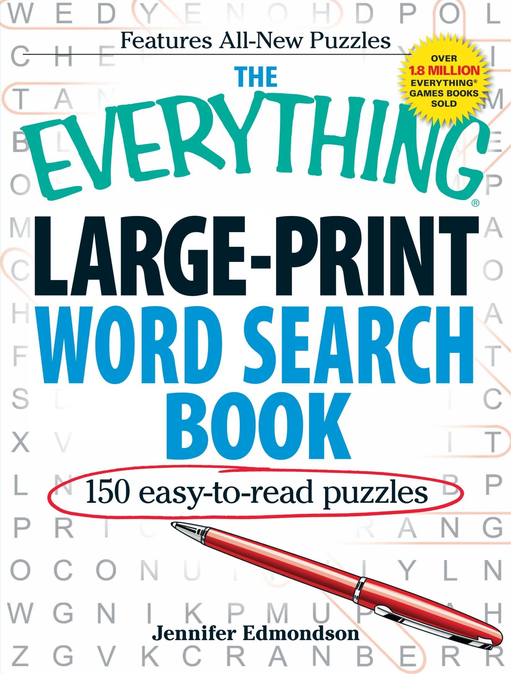 Large Print Word Search Printable