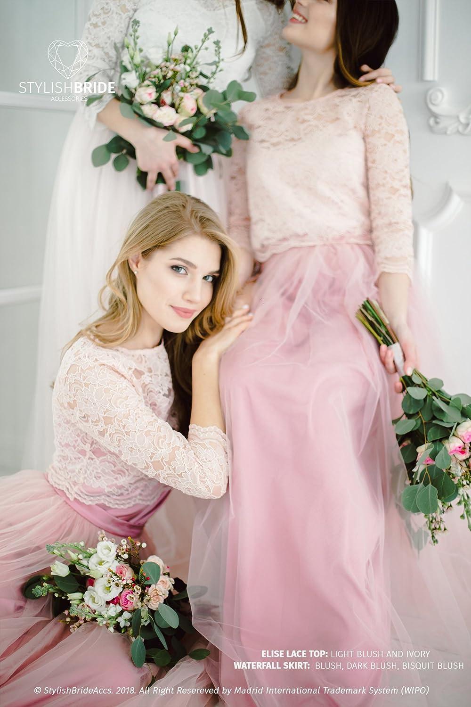 bc007cdb80a7 Dark Blush Wedding Dress - raveitsafe