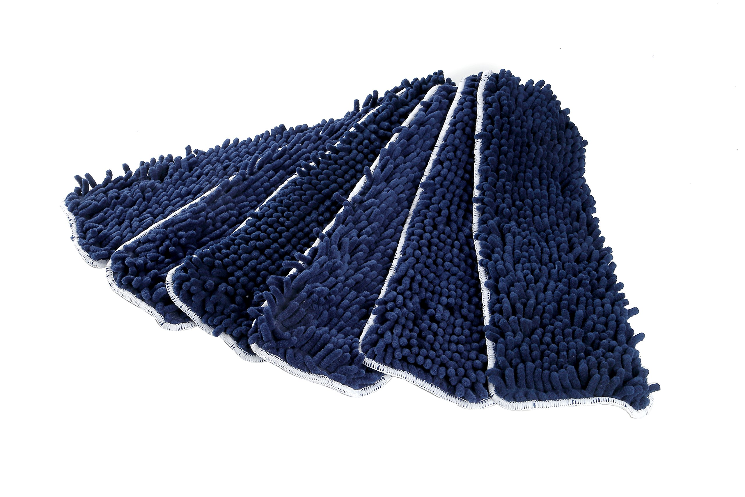 LTWHOME 18 Inch Washable Chenille Microfiber Coral Flat Mop Pad Refills(Pack of 6) by LTWHOME