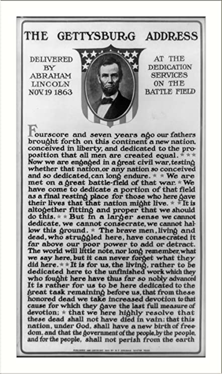 photograph regarding Gettysburg Address Printable known as : Historical Print (L): The Gettysburg cover