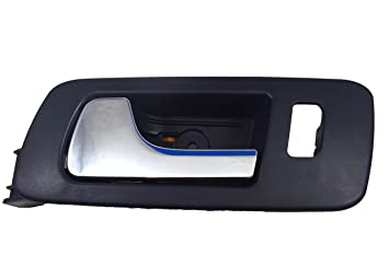 Inside Interior Inner Door Handle Driver Side Front PT Auto Warehouse CH-2334MA-FL Black Housing with Chrome Lever