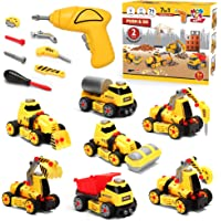 7 in 1 Take Apart Truck Construction Set - STEM Learning Toy w/ Electric Drill, DIY Engineering Building PlaySet w…