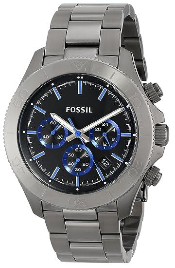 417bef31d08c Fossil Men s CH2869 Retro Traveler Smoke-Tone Stainless Steel Watch ...
