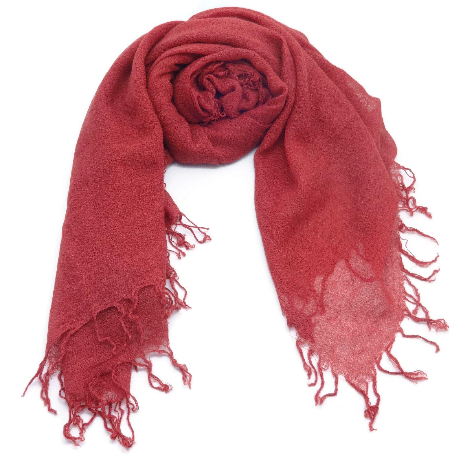 Chan Luu Barn Red Cashmere and Silk Soft Scarf Shawl Wrap