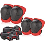 Kids/Youth Knee Pad Elbow Pads Guards Protective Gear Set for Roller Skates Cycling BMX Bike Skateboard Inline Skatings…