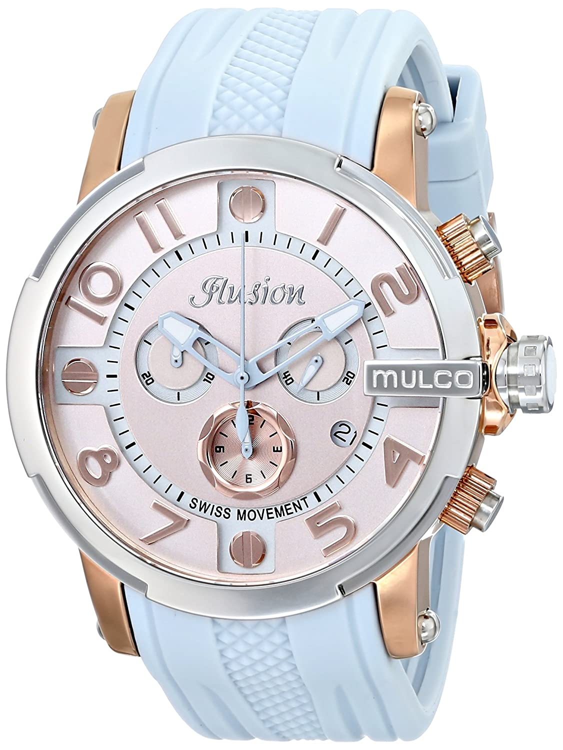 MULCO Unisex MW3-12239-413 Ilusion Roll Analog Display Swiss Quartz Blue Armbanduhr