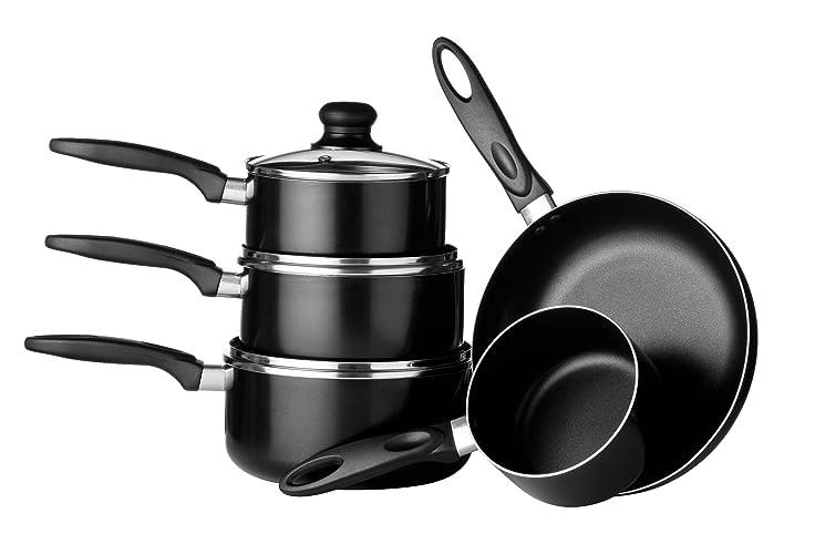Amazon Com Premier Housewares Batterie De Cuisine Aluminium