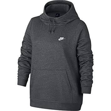 f755ba22cb74 NIKE Sportswear Women s Plus Club Funnel-Neck Hoodie