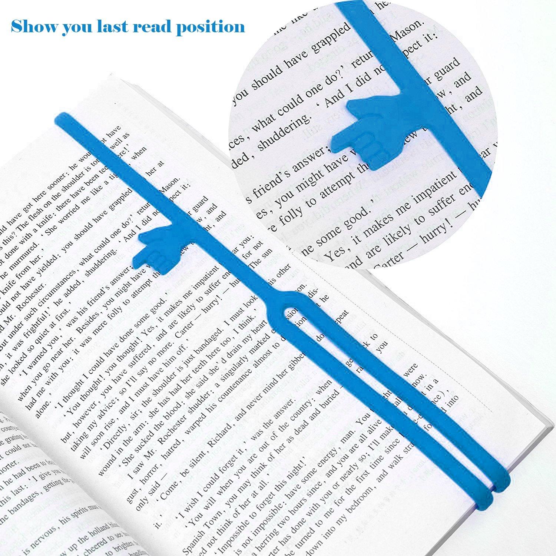 16pz Divertente Aiutami Segnalibri /& Silicone Dito Indicando Segnalibri Creatiees Novit/à Libro Marcatore Cinghia per Scuola Supplies Stazionario Regalo Ufficio Fornitura