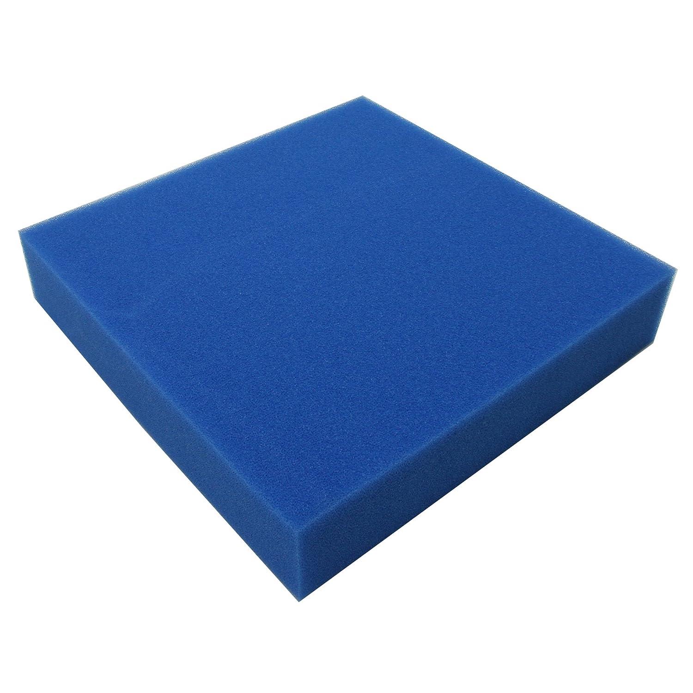 JBL Mousse filtr. bleue maille fine 50*50*5cm, Mousse fine pour filtre, Contre toutes les turbidités de l'eau 6256100