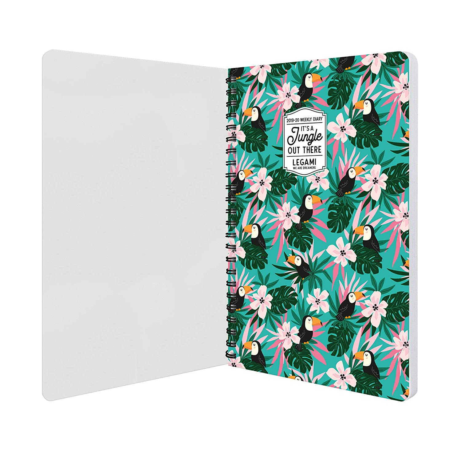 Amazon.com : Weekly Diary Spiral Bound 16 Month 2019/2020 ...