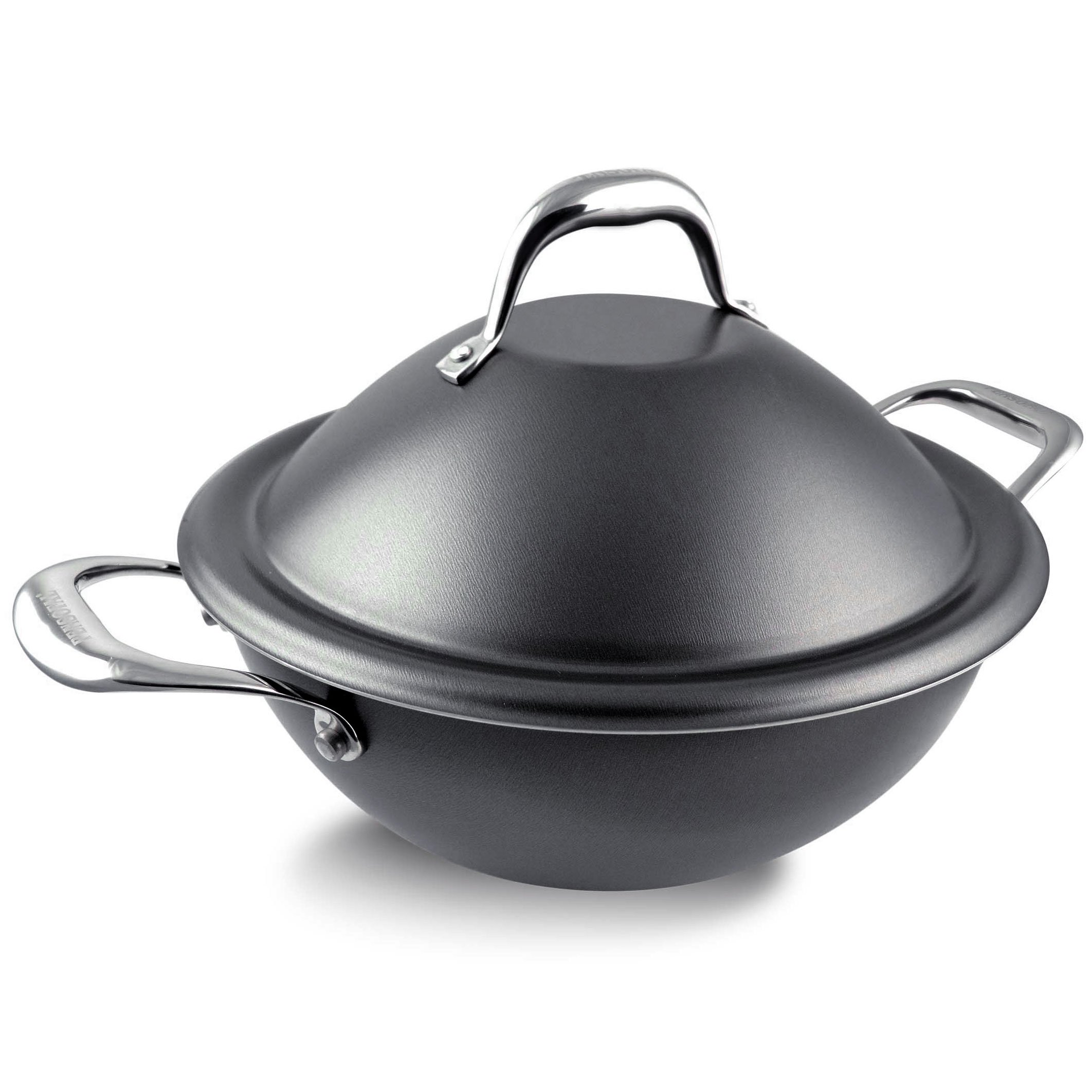 Pensofal Pen 5517 Invictum Professional Vapsì Wok 2 Handles Andtrayandforkanddome Lid, Also for Steam Cooking - Diameter 24 cm, Grey by Pensofal