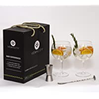 Gin Balloon Glasses Rose Gold Set by Vemacity