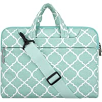 "Mosiso Quatrefoil Style Fabric Laptop Sleeve Case Cover Bag with Shoulder Strap 11-11.6"" Hot Blue"
